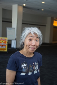 Doris Chan shows off her Dr Who shirt
