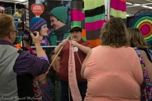 Ken McCamish crochets in public!