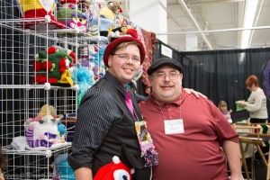 Michael Sellick and Ken McCamish at the Knit and Crochet Show, Manchester, NH